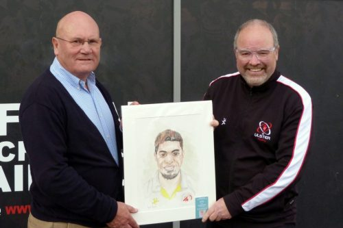George received his prize at Kingspan Stadium from URSC Chairman Jonathan Bill